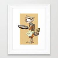 rocket raccoon Framed Art Prints featuring Rocket Raccoon by Negative Dragon