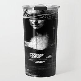 Mona Lisa Glitch Travel Mug