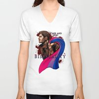 fandom V-neck T-shirts featuring Fandom Pride : Bisexuality ( Dean Winchester) by Cinensis