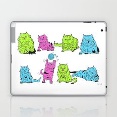 Fluro Cats Laptop & iPad Skin