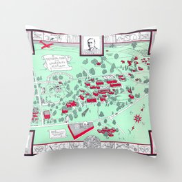 LEXINGTON University map KENTUCKY dorm Throw Pillow