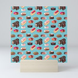 Doughnut Like Sushi Mini Art Print