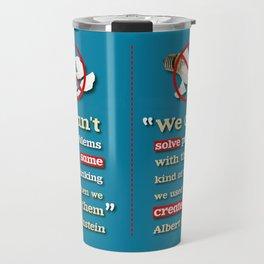 Einstein on Problem Solving Travel Mug