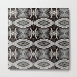 Air Plant Gray Pattern Metal Print