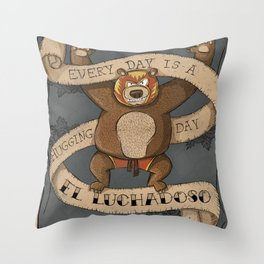 EL LUCHADOSO Throw Pillow