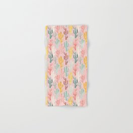 Long Multicolored Cacti Hand & Bath Towel