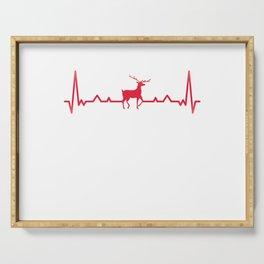 Deer Heartbeat Reindeer Moose Elk Xmas Gift Serving Tray