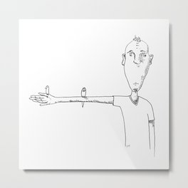 Telephone Wire   @makemeunison Hand Drawn Art Metal Print