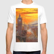 London Evening Mens Fitted Tee White MEDIUM