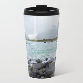 Lofoten Best place for Arctic surfing Travel Mug