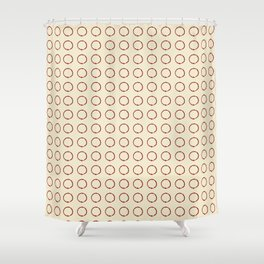 ink circle Shower Curtain