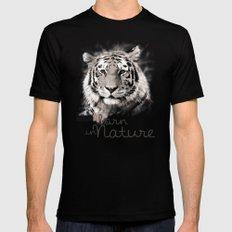 Tiger (BornInNature) Mens Fitted Tee MEDIUM Black