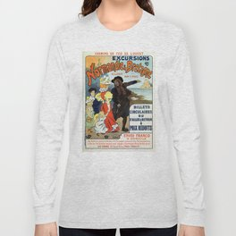 1896 Normandy Brittany Jersey travel ad Long Sleeve T-shirt