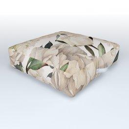 Peonies Pattern Outdoor Floor Cushion