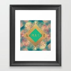 Namaste Mandala Framed Art Print