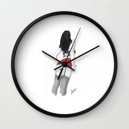 Red Skirt Lover Wall Clock