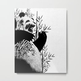 Panda Z Metal Print