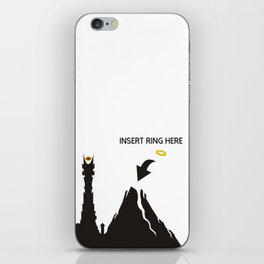 Lord of the Ring Intructions iPhone Skin
