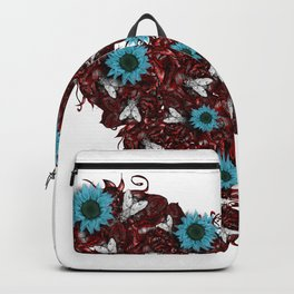Flesh Heart, Flyes and Flowers Backpack