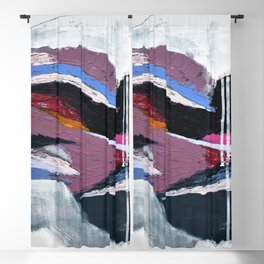 Ebb and Flow:  vibrant, minimal abstract piece in various colors by Alyssa Hamilton Art Blackout Curtain