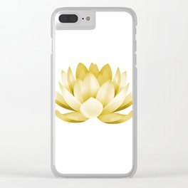 Mustard lotus flower Clear iPhone Case