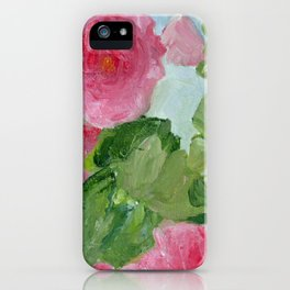 In the Pink Hollyhock Oil Painting iPhone Case