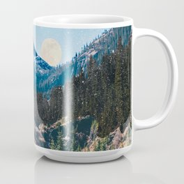 1960's Style Mountain Collage Coffee Mug