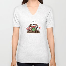 Super Blooper Sushi is what's for dinner Unisex V-Neck