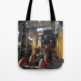 Disassembled steam locomotive Tote Bag