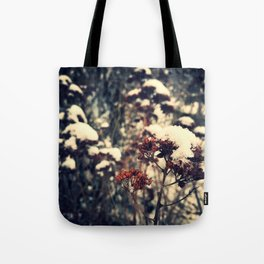 snow on plant no. 5 Tote Bag