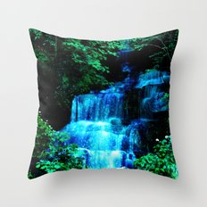 Enchanted waterfall. Throw Pillow