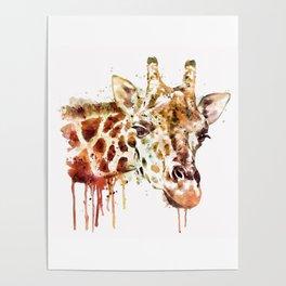 Giraffe Head Poster