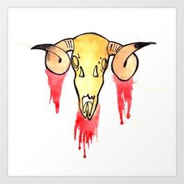 Skull and Blood Art Print