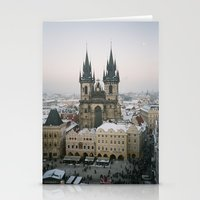 prague Stationery Cards featuring Prague by BriAnneWills