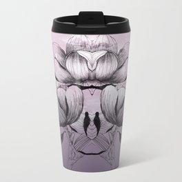 Purple bloom of Magnolia Metal Travel Mug