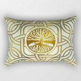 Golden Tree of life  -Yggdrasil on vintage paper Rectangular Pillow