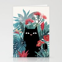 spring Stationery Cards featuring Popoki by littleclyde