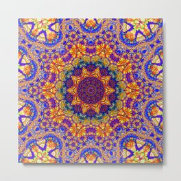Eleventh Mandala Of Life For A Rosy Spring Metal Print