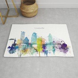 Colorful Louisville skyline design Rug
