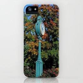 Blue Grand Rapids Clock iPhone Case