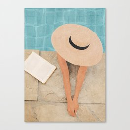 On the edge of the Pool II Canvas Print