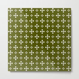Optical pattern 177 dark green Metal Print