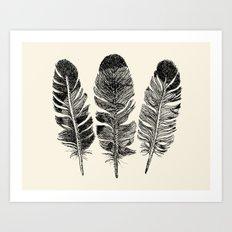 Feather Eagle Art Print