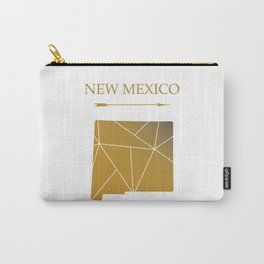 New Mexico In gold Carry-All Pouch