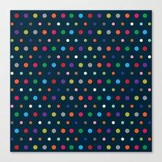 Color Polka Canvas Print