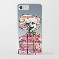 poe iPhone & iPod Cases featuring Poe by dvhstudios