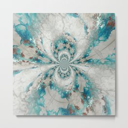 Reality Curved - Abstract Art by Fluid Nature Metal Print