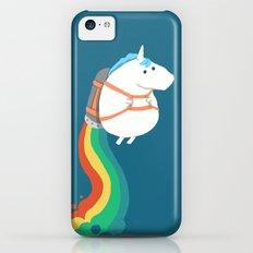 Fat Unicorn on Rainbow Jetpack Slim Case iPhone 5c