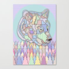 Bear Forest Canvas Print