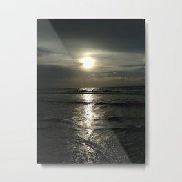 Silver sunrise Metal Print